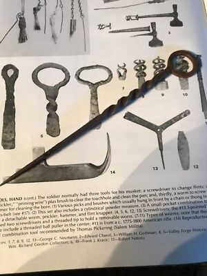 Revolutionary War 18th Century Forged Iron Twisted Vent Pick 7 Inch