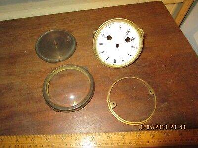 Antique Clock parts -18th / 19th Century Clock bezels and enamel dial in VGC