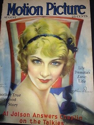 Patriotic Americana Motion  Picture Magazine Cover Only 1929 Josephine Dunn