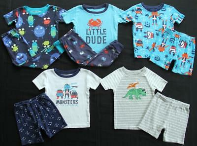 Boy 24 Months 2T Carter's Cotton Pajama Sets Clothes Lot Free Shipping