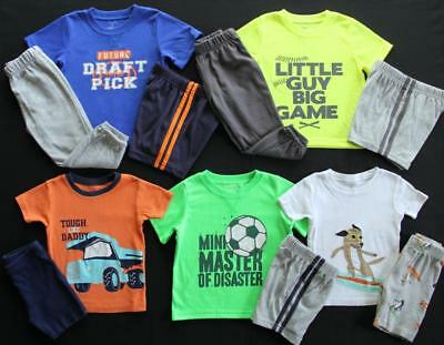 Boy 24 Months 2T Carter's Pajama Sets Clothes Lot Free Shipping