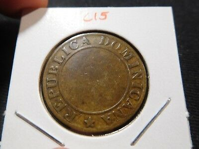 C15 Dominican Republic 1844 Copper 1/4 Real RARE