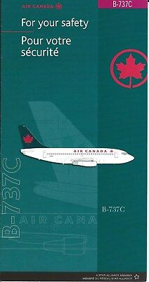 Safety Card - Air Canada - B737C Combi Versions  (S2310)
