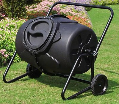 NEW 190L Rotating Garbage Rubbish Garden Compost Tumbler Tumbling Composter Bin