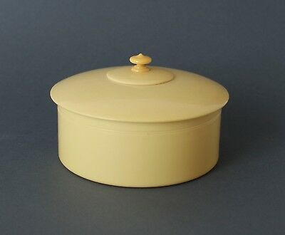 Vintage Art Deco 30s/40s XYLONITE ROUND BOX/CASE Made in England STUDS & COLLARS