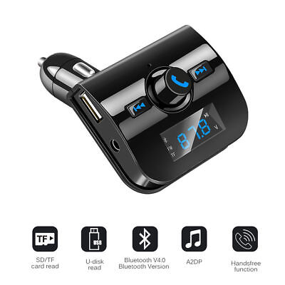 Car Kit Wireless Bluetooth Handsfree FM Transmitter LCD MP3 Player USB Charger