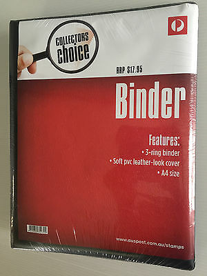 Brand New Sealed Australia Post Collectors Choice Black Ring Binder Stamp Album