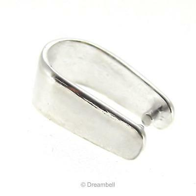 1x Sterling Silver Pendant Connector Pinch Bail Clasp