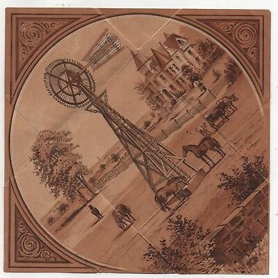 IN Indiana Kendallville TX Texas Fort Worth Kansas City Windmill Trade Card