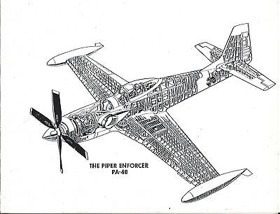 Piper - Enforcer - Cutaway Style Drawing - Picture not Brochure (B495)