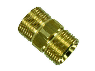 Hose Connector Adapter Nipple Extension Brass M21 - M22 Ag Clutch
