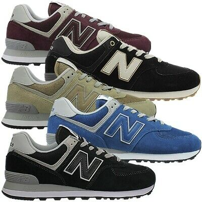 9a0d73bb1c7b1 New Balance ML574 men's low-top sneakers red beige blue black suede NEW