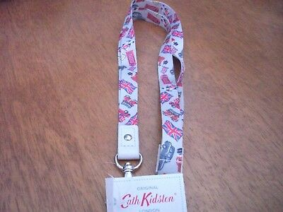 New with tags cath kidston London stamps  lanyard