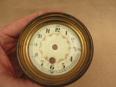 Small Antique French Decorative Clock Dial And Bezel