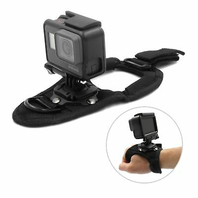 360° Rotate Glove Hand Palm Back Arm Wrist Strap Mount for GoPro Hero 6 5 4 3 UK