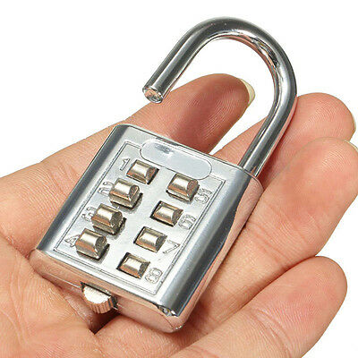 4 Digit Push-Button Combination Padlock Travel Luggage Number Code Lock ss