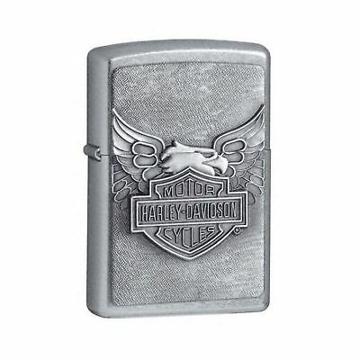 Zippo Iron Eagle Emblem Lighter - Street Chrome
