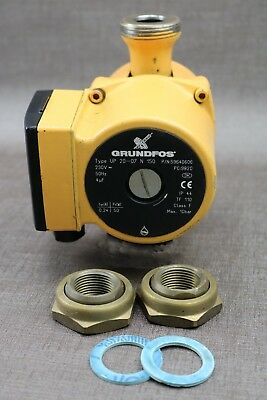 Grundfos  UP 20-07 N 150 Hot water Circulator Pump with Fittings 59640606 (A17)