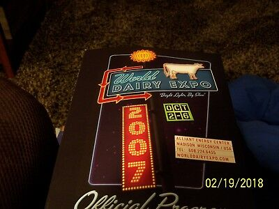 2007 World Dairy Expo Official Program Madison Wisconsin