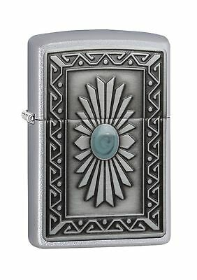 Zippo Southwest Sun Regular Lighter - Satin Chrome