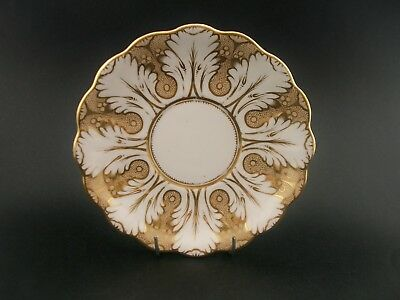 China Replacement Antique Victorian Gold Scallop Pattern Saucer England c1900