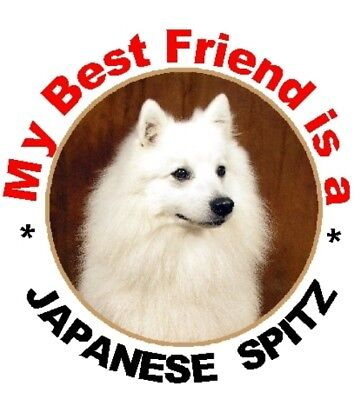 Japanese Spitz Dog Cage Identity Badge for Dog Show Crates//Cages by Starprint