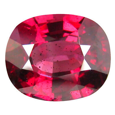 3.65 ct AAA Oval (10 x 8 mm) Pinkish Red Rhodolite Garnet Natural Loose Gemstone