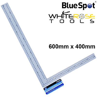 BlueSpot 600mm x 400mm Framing Square Carpenters Rafters Metric Imperial