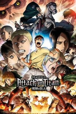 ATTACK ON TITAN POSTER CHARACTERS, size 24x36