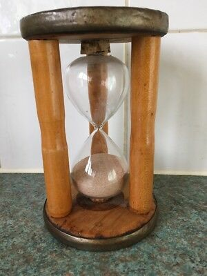 "large vintage 6"" Industrial cotton bobbin egg timer"
