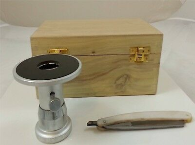 Bare-Handed Microtome - Includes Razor & Wooden Case