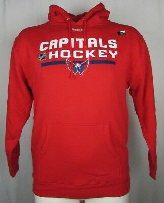 5f7e3bea876 Washington Capitals Reebok Men Pullover Hooded Sweatshirt NHL Red L XL