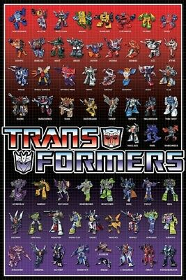 TRANSFORMERS - ALL CHARACTERS - US Version, size 24x36