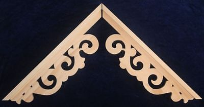 L&Gs Victorian Gingerbread Fretwork Pine Exterior Wood Gable End Trim