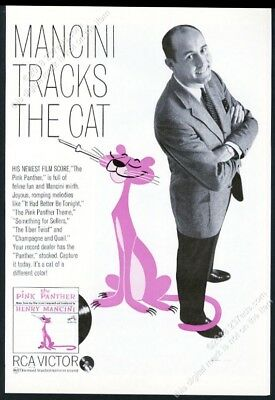 1964 Pink Panther art Henry Mancini photo RCA Victor vintage print ad