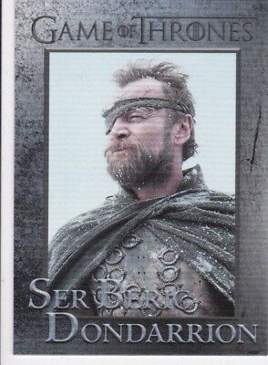 2018 Season 7 Game Of Thrones Ser Beric Dondarrion Trading Card #49