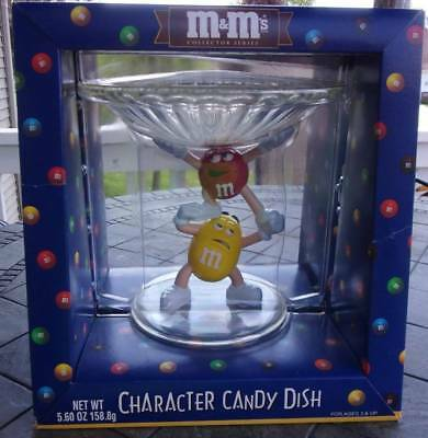 M&M's Collector Series Character Candy Dish Red Yellow M&M