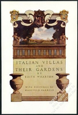 1903 Maxfield Parrish Italian Gardens and Their Villas vintage title print