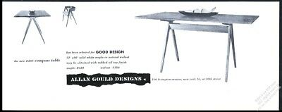 1953 Allan Gould modern Compass Table and Chair photo vintage print ad