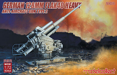 MODELCOLLECT UA72101 WWII German 128mm Flak40 (Type 2) Anti-Aircraft in 1:72