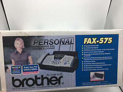 New Brother Fax-575 Personal Plain Paper Fax, Phone, Copier Machine