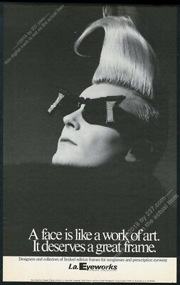 1985 John Sex photo L.A. Eyeworks sunglasses BIG vintage print ad