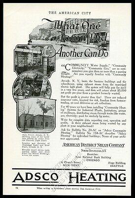 1922 Arcade New York 4 photo Adsco steam heating vintage trade print ad