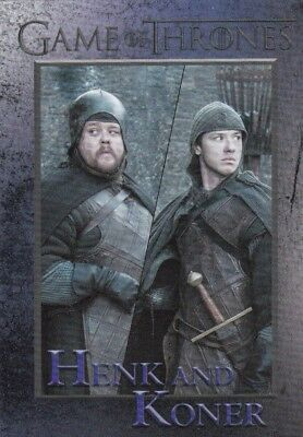 2018 Season 7 Game Of Thrones Henk And Koner Trading Card #73