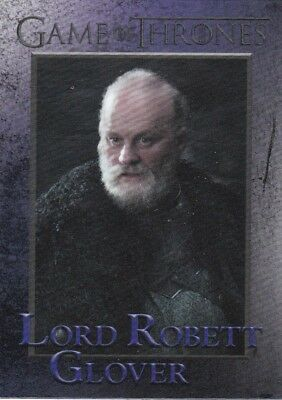 2018 Season 7 Game Of Thrones Lord Robett Glover Trading Card #67