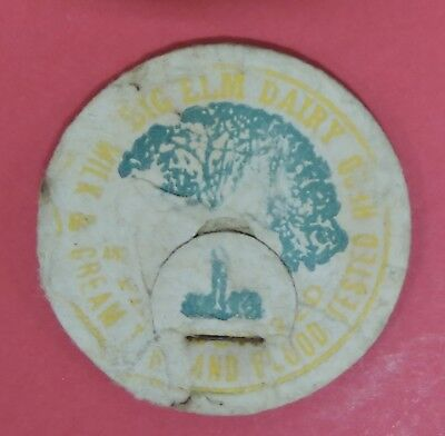 Vtg Big Elm Dairy Milk & Cream Bottle Cap-T.b. & Blood Tested-Andrews Indiana