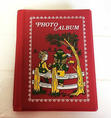 Plastic Bound Children on Fence Grandma Brag Album Book