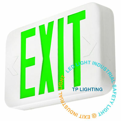 Green LED Emergency Exit Light Sign - Modern Battery Backup UL924 Fire