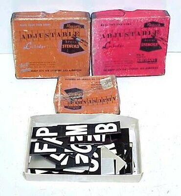 "Hanson Reeses Lockedge adjustable stencils 2"" & 1½"" Letters & Numbers PLUS"