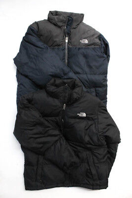 The North Face  Lot 2 Black Navy Blue Down Zip Up Jacket Size Extra Large